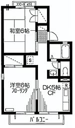 ファミール宮前平[2階]の間取り