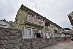 大阪府羽曳野市はびきの4丁目の賃貸アパートの外観