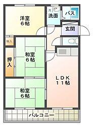 愛知県豊田市梅坪町9の賃貸マンションの間取り