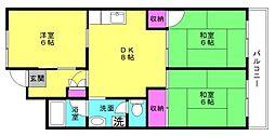 播磨城ノ宮住宅[2-507号室]の間取り