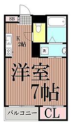 東京都大田区大森東4丁目の賃貸アパートの間取り