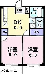 エルディム伊藤[2階]の間取り