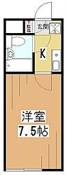 メゾンドクローネ[1階]の間取り