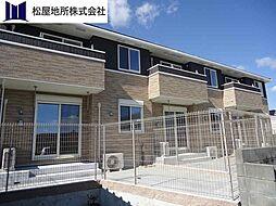 愛知県豊橋市二川町字西向山の賃貸アパートの外観