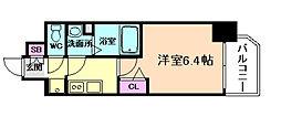 阪急神戸本線 中津駅 徒歩3分の賃貸マンション 9階1Kの間取り