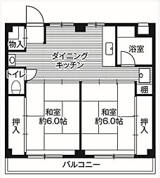 ビレッジハウス鎌ヶ谷[1階]の間取り