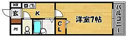 阪急京都本線 上新庄駅 徒歩12分の賃貸マンション 2階1Kの間取り