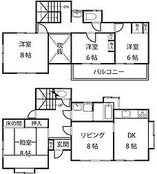 [一戸建] 神奈川県横浜市青葉区大場町 の賃貸【/】の間取り