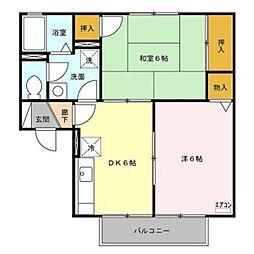 ルナヴェール A[2階]の間取り