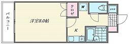 シャトレ21箱崎[203号室]の間取り