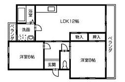 ハイツ福寿園[3階]の間取り