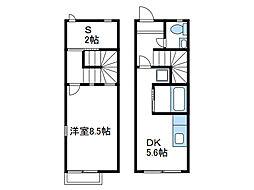 [テラスハウス] 神奈川県厚木市愛甲4丁目 の賃貸【神奈川県 / 厚木市】の間取り