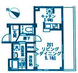 神奈川県横浜市神奈川区松本町5丁目の賃貸マンションの間取り