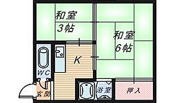 大阪府堺市堺区市之町西1丁の賃貸マンションの間取り