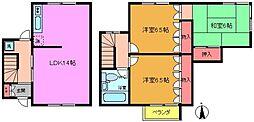 [テラスハウス] 千葉県市川市菅野2丁目 の賃貸【千葉県 / 市川市】の間取り