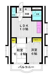 東京都練馬区早宮3丁目の賃貸マンションの間取り