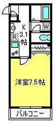 DOMUS YUI[202号室]の間取り