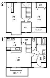 [テラスハウス] 岡山県倉敷市福島 の賃貸【/】の間取り