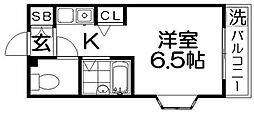 ブルグリンコート香里園[8階]の間取り