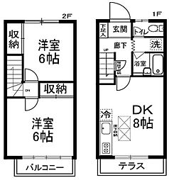 [テラスハウス] 神奈川県川崎市宮前区平1丁目 の賃貸【/】の間取り