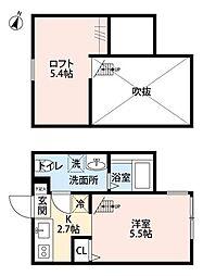 STAR CLOUD 矢部(スタークラウド ヤベ)[1階]の間取り