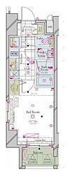 JR山手線 浜松町駅 徒歩5分の賃貸マンション 5階1Kの間取り