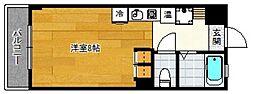シティベール松山[403号室]の間取り