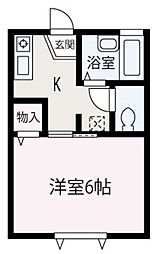 埼玉県朝霞市本町2丁目の賃貸アパートの間取り