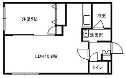 Rilassante東札幌[202号室]の間取り