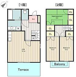[テラスハウス] 東京都日野市南平9丁目 の賃貸【/】の間取り