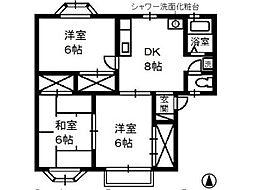 オレンジハイム B[2階]の間取り