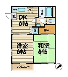 グレイス北鎌倉[2階]の間取り