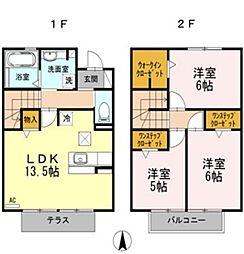 愛知県豊田市挙母町4丁目の賃貸アパートの間取り