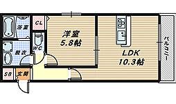 affetto浅香[2階]の間取り
