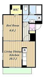 小田急小田原線 本厚木駅 バス35分 春日台入口下車 徒歩3分の賃貸アパート 2階1LDKの間取り