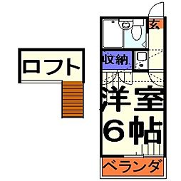埼玉県川口市青木3丁目の賃貸アパートの間取り