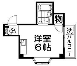 シティーハイツ萱島[2階]の間取り