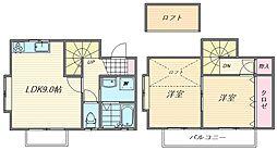 [テラスハウス] 福岡県福岡市東区青葉1丁目 の賃貸【/】の間取り