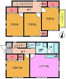 [一戸建] 千葉県市川市下貝塚1丁目 の賃貸【/】の間取り