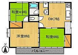 第3飯田ハイツ[201号室]の間取り