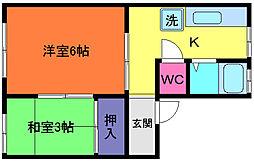 神田マンション[4階]の間取り