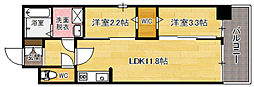modern palazzo天神南[10階]の間取り