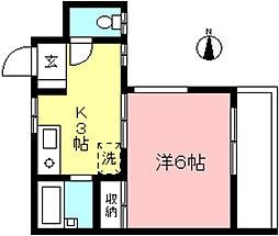 M's スクエア[4階]の間取り