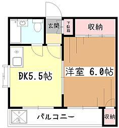 ロータリーハイム小平[4階]の間取り