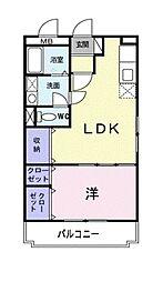 アマービリス 3階1LDKの間取り