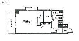 シスタス赤坂[101号室]の間取り