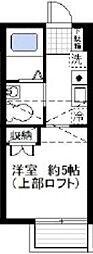 オーガスタコート横浜反町[202号室]の間取り