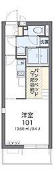 JR成田線 東我孫子駅 徒歩5分の賃貸アパート 3階ワンルームの間取り