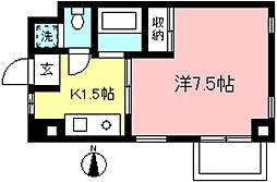 M's スクエア[8階]の間取り