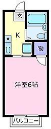 大阪府松原市東新町3丁目の賃貸アパートの間取り